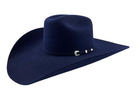 "6X Navy 4 1/2"" Brim Cowboy Hat - 6X BEAS"
