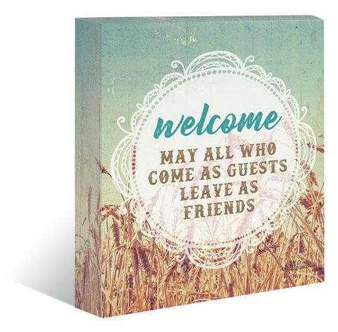 Holy Cow Welcome Canvas Block - 1-KL611