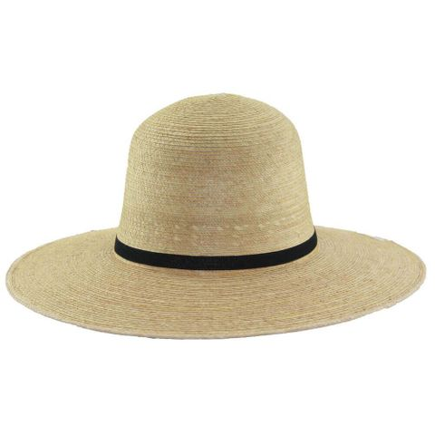 "Standard 4"" Brim Palm Straw Hat - HG4A OAK"
