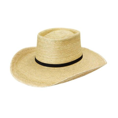 "Box Top 4"" Brim Palm Straw Hat - HG4AOAKB"