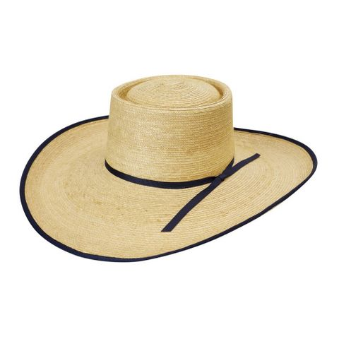 "Navy Bound 5"" Brim Palm Hat - HG5AOKRN"
