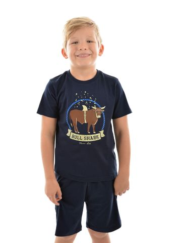 Boy's Bull Shark Glow In The Dark PJS - T9S3901PJS