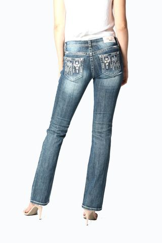 Aztec Embroidered Jean - EB81319