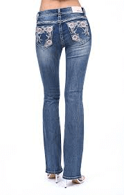 Flower Embroidery Jean - EB81325