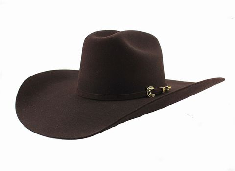 "6X Black Cherry 4 1/2"" Brim Hat - 6X LATIGO"
