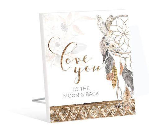 Barn Owl Moon Sentiment Plaque - KBD-0930