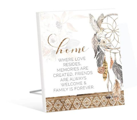 Barn Owl Home Sentiment Plaque - KBD-0932