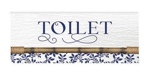 Chippendale Toilet Door Plaque - KBD-0719