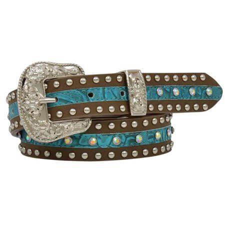 Girl's Turquoise Floral Belt - DA5232