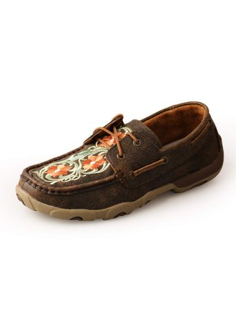 Distress Flower Mocs Low Lace Up - TCWDM0008