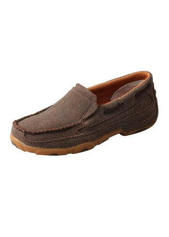 Women's Chocolate Shimmer Slip On Moc - TCWDMS016