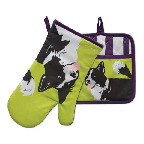 Boder Collie Oven Mitt & Pot Holder Set - TCP2922096 159