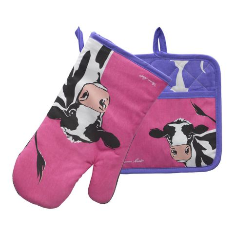 Cleo Cow Oven Mitt & Pot Holder Set - TCP2922096 579