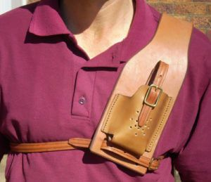 Leather Radio Pouch - Q930