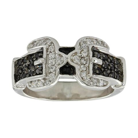 Double Buckle Ring - RG3569BK