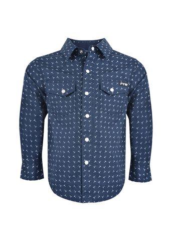 Boy's Anthony Print L/S Shirt - P0S3100330