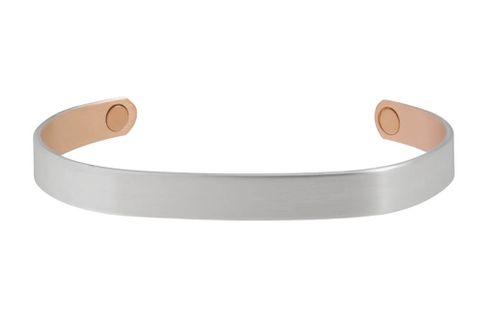 Brushed Silver Magnetic Bracelet - 530