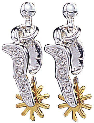 Sparkling Spur Drop Earrings - ER930CZL