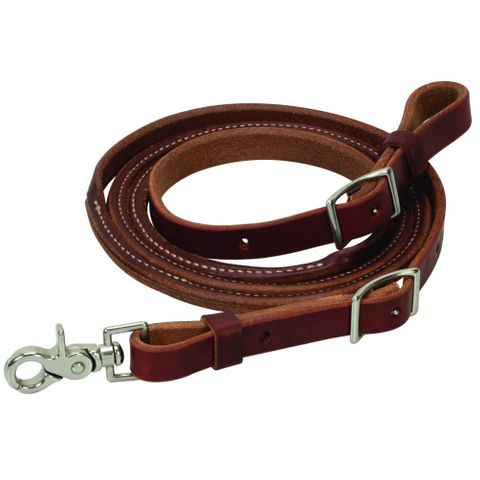Canyon Rose Leather Roping Rein - WEA50-1486-7