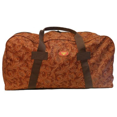 Tooled Leather Print Gear Bag - FOR7455 TO