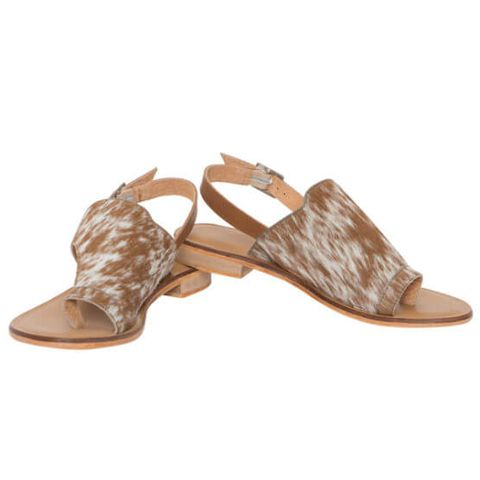 Cowhide Toe Flat Sandals - SHOE53T