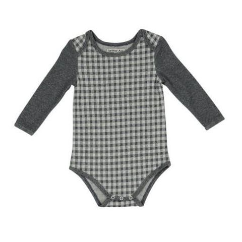 Long Sleeve Check Jumpsuit - LSCHECK