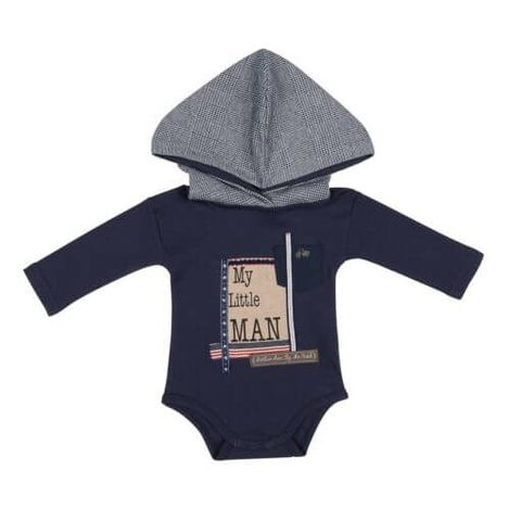 Navy Little Man Onsie - NVYLITTLEMAN