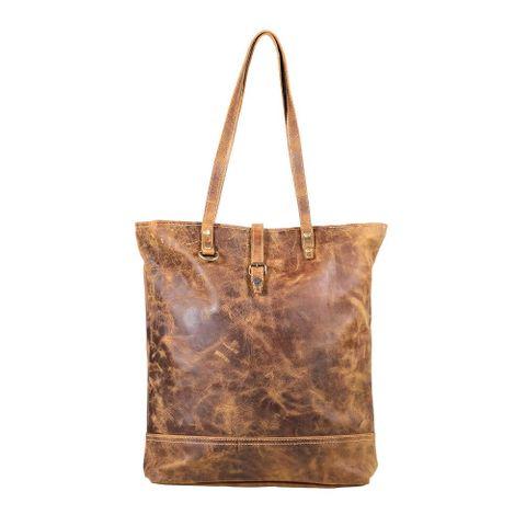 Women's Fleece Leather Tote Bag - S-1889