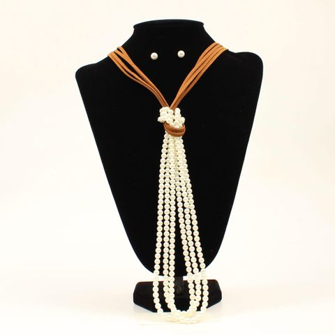 Pearl Necklace Set - 29199