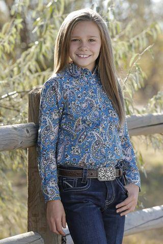 Girl's Paisley Print L/S Shirt - CTW3230021