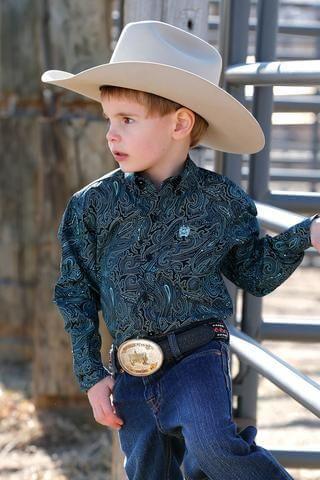 Boy's Infant Paisley Print L/S Shirt - MTW7062241