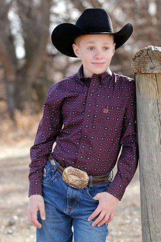 Boy's Toddler Medallion Print L/S Shirt - MTW7061244