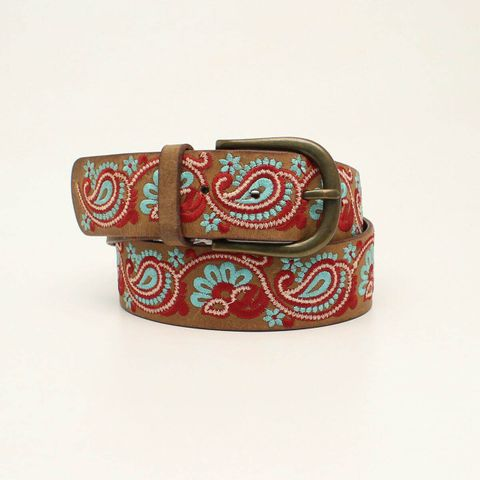 Women's Paisley Embroidered Belt - N320001644