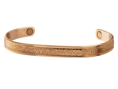 Pebbled Copper Magnetic Bracelet - 539