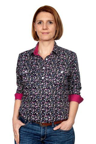 Women's Georgie Half Button L/S Shirt - WWLS2116