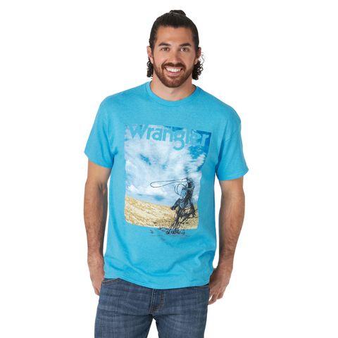 Men's Blue Sky Cowboy Tee - MQ6124B