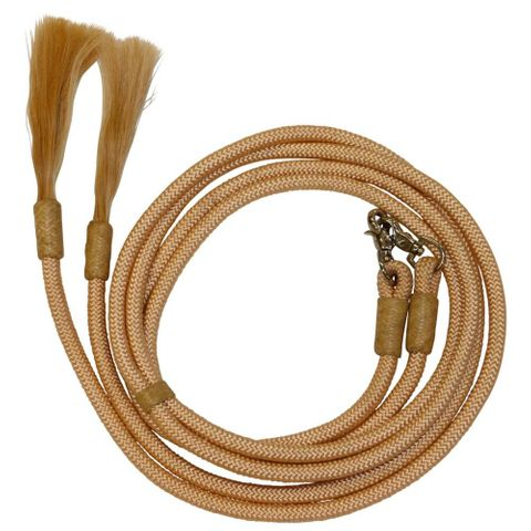 Yacht Cord 8' Split Reins with Horsehair - FOR27-0040 BG