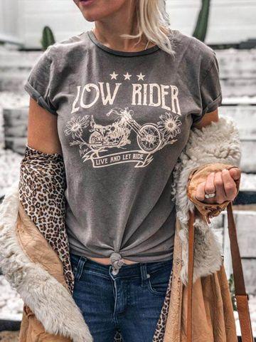 Women's Low Rider Organic Tee - RIDERGRY