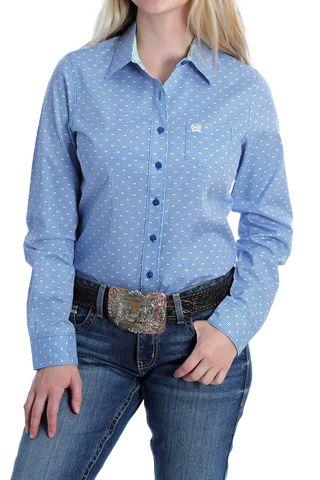 Women's Blue Dot L/S Shirt - MSW9164164