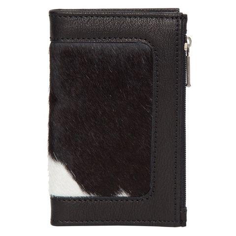 Women's Cowhide Card Wallet - CA03BLK