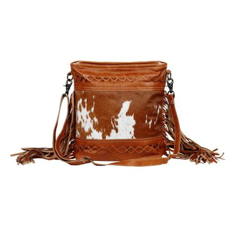 Women's Fashion Creed Leather & Hair Bag - S-2616