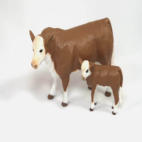 Hereford Cow & Calf - 403