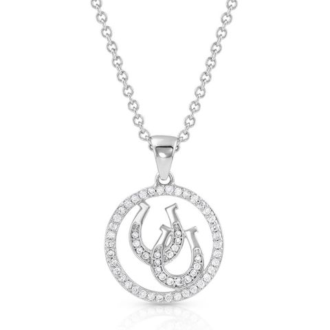 Lucky Horseshoe Pendant Necklace - NC4731