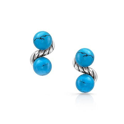 Dot Bar Dot Turquoise Earrings - ER4722