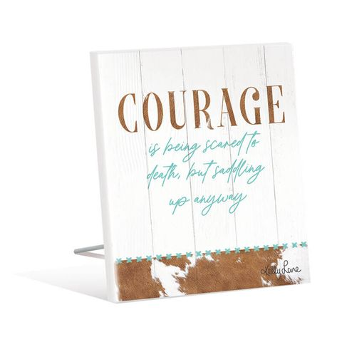 Country Courage Sentiment Plaque - KBD-1937