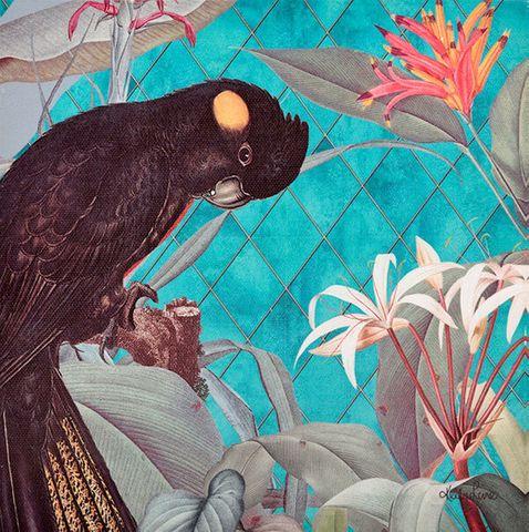 Lush Cockatoo Wall Art - KBD-1202
