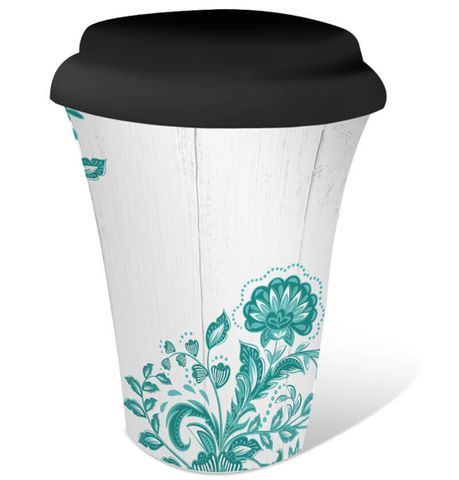 Country Turquoise Coffee To Go - KZH-0207