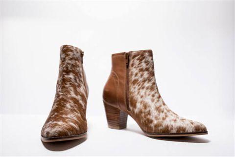 Women's Cowhide Boots - SHOE24T