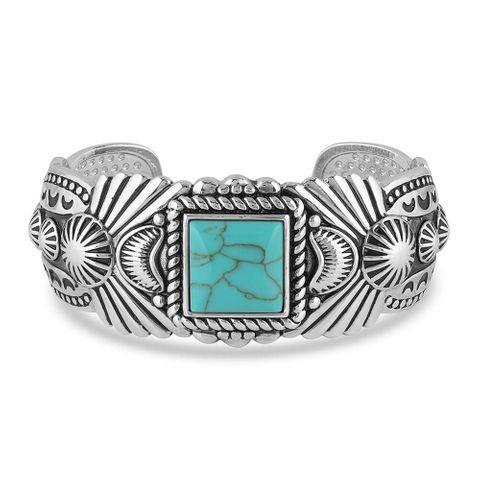 Flourished Turquoise Cuff Bracelet - BC4813