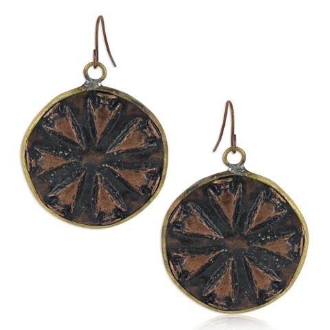 Simmering Warmth Attitude Earrings - AER4862